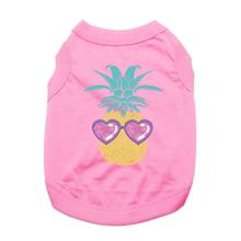 Pineapple Shades Dog Shirt - Light Pink