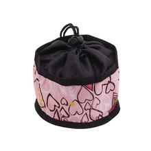 Foldable Dog Travel Bowl by Doggles - Pink Hearts