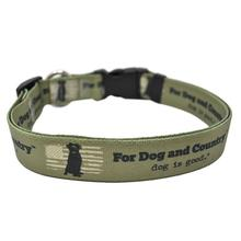 For Dog and Country Dog Collar and Leash Collection by Dog is Good - Army Green