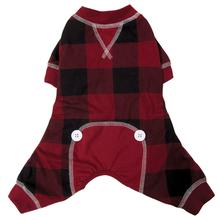 foufou Dog Buffalo Plaid Dog Pajamas - Red