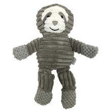 FouFou Dog Knotted Corduroy Dog Toy - Sloth