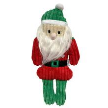 foufou Dog Nutcracker Corduroy Dog Toy - Santa
