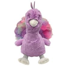 foufou Dog Pastel Pal Fuzzy Dog Toy - Peacock