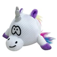 foufou Dog Rainbow Bright Spikers Ball Dog Toy - White Unicorn