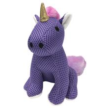 foufou Dog Rainbow Bright Spikers Dog Toy - Purple Unicorn