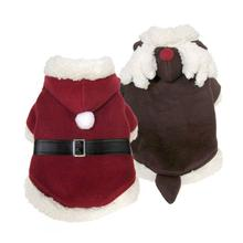 FouFou Dog Santa/Reindeer Reversible Suit Dog Jacket