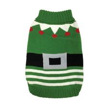 FouFou Dog Ugly Christmas Dog Sweater - Elf