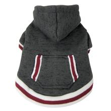 foufou Dog Heritage Knit Dog Hoodie - Charcoal