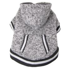 foufou Dog Heritage Knit Dog Hoodie - Heather Gray