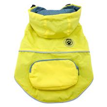 foufou Dog Rainy Day Dog Poncho with Built-in Travel Pouch - Yellow