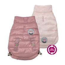 FouSport Luxe Reversible Dog Coat - Pink/Baby Pink
