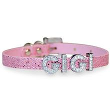 Foxy Glitz Slide Dog Collar by Cha-Cha Couture - Pink