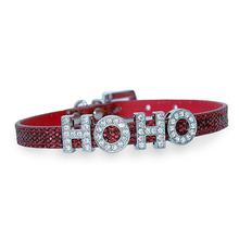 Foxy Glitz Slide Dog Collar by Cha-Cha Couture - Red