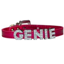 Foxy Metallic Slide Dog Collar - Hot Pink