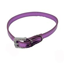 Foxy Metallic Slide Dog Collar - Lilac