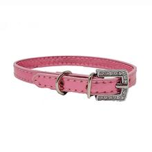 Foxy Metallic Slide Dog Collar - Pink