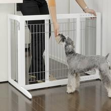 Freestanding Dog Gate - H Series - Origami White