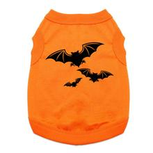 Halloween Bats Dog Shirt - Orange