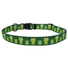 Frog Frenzy Dog Collar by Yellow Dog