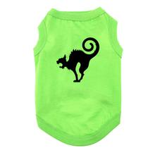 Scaredy Cat Halloween Dog Shirt - Green