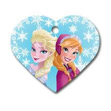 Frozen Heart Large Engravable Pet I.D. Tag
