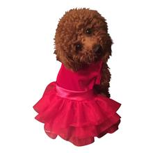 Fufu Tutu Holiday Party Girl Dog Dress - Red Velvet