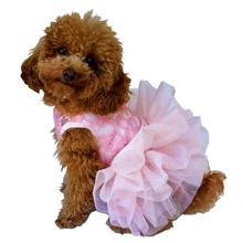 Fufu Tutu Lace Dog Dress - Pink