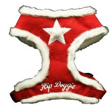 Fur Star Dog Harness by Hip Doggie - Red