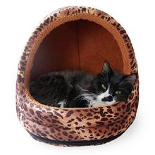 FurHaven Animal Print Terry Hood Pet Bed - Leopard