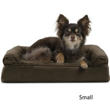 FurHaven Plush & Suede Memory Top Sofa Pet Bed - Espresso
