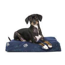 FurHaven Deluxe Indoor/Outdoor Garden Orthopedic Pet Bed - Lapis Blue