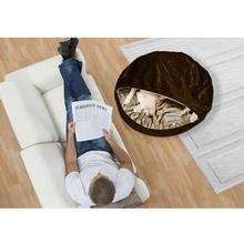 Furhaven Microvelvet Snuggery Orthopedic Pet Bed - Espresso