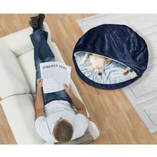 Furhaven Microvelvet Snuggery Pet Bed - Navy