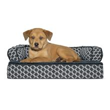 FurHaven Plush & Decor Orthopedic Sofa-Style Pet Bed - Diamond Gray