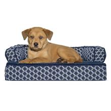FurHaven Plush & Decor Orthopedic Sofa-Style Pet Bed - Diamond Blue