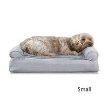 FurHaven Plush & Suede Memory Top Sofa Pet Bed - Gray