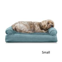 FurHaven Plush & Suede Memory Top Sofa Pet Bed - Deep Pool