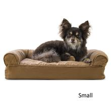 FurHaven Quilted Memory Top Sofa Pet Bed - Toasted Brown
