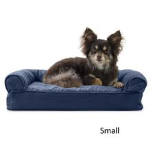 FurHaven Quilted Memory Top Sofa Pet Bed - Navy