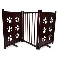 FurHaven Three-Panel Pet Gate - Paw Prints