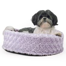 FurHaven Ultra Plush Cup Pet Bed - All Plush - Lavender