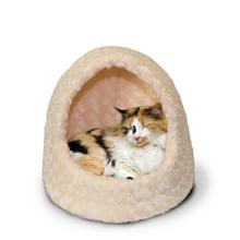 FurHaven Ultra Plush Hood Pet Bed - Cream