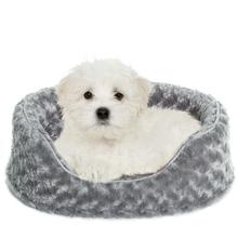 FurHaven Ultra Plush Oval Pet Bed - Gray