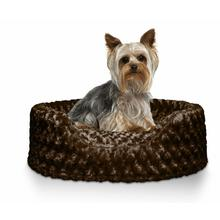 FurHaven Ultra Plush Oval Pet Bed - Chocolate