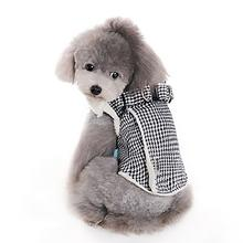 Furry Houndstooth Dog Harness Coat by Dogo - Black