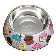 FuzzYard Fresh (Cupcakes) Easy Feeder Dog Bowl