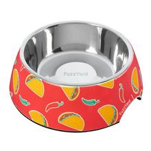 FuzzYard Hey Esse (Tacos and Chilli) Easy Feeder Dog Bowl