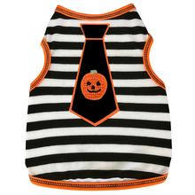 Pumpkin Tie Striped Dog Tank
