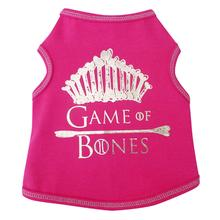 Game of Bones Dog Tank - Hot Pink