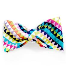Geometric Borealis Dog Bow Tie from Daisy and Lucy